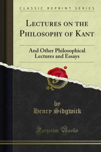 Lectures on the Philosophy of Kant