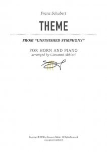 Franz Schubert Theme from Unfinished Symphony for Horn and Piano