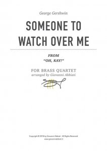 George Gershwin Someone To Watch Over Me (from