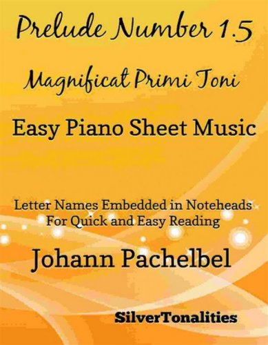 Prelude Number 1.5 Magnificat Primi Toni Easy Piano Sheet Music